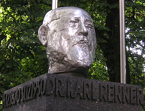 English: Monument to Karl Renner next to the A...