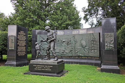 Seabee Memorial - looking NW - Arlington National Cemetery - 2011