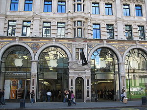 The Regent Street Apple Store in London. www.a...