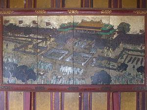 Tiếng Việt: Tranh kính (kiếng) trong cung đình...