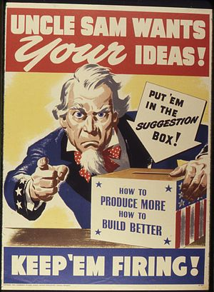 Uncle Sam Wants Your Ideas^ Keep 'Em Firing - ...