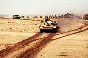 English: A British Challenger 1 main battle ta...