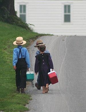 Amish schoolchildren