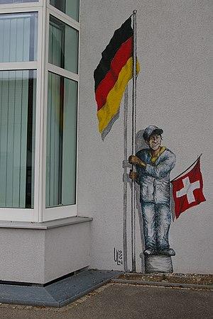 Büsingen am Hochrhein Rathaus half Swiss half ...