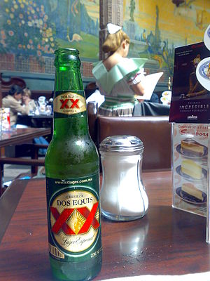 XX lager beer. Picture taken by me.