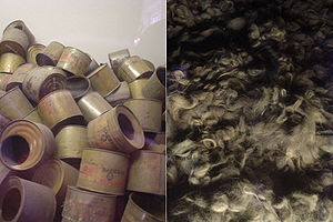 English: Photos of empty poison gas canisters ...