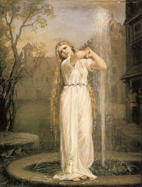 John William Waterhouse - Undine (1872, oil on canvas)