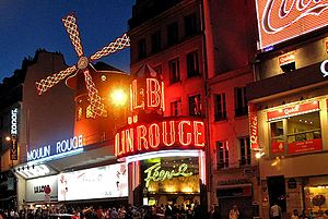 The Moulin Rouge is a famous cabaret in Paris,...