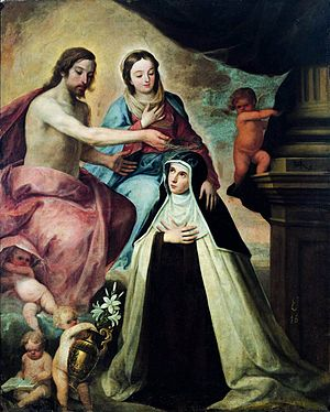 Pedro de Moya - Vision of St Maria Magdalena d...