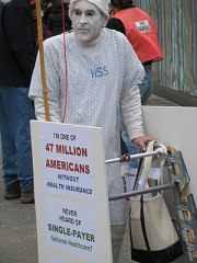 Supporter of a single-payer health care plan d...