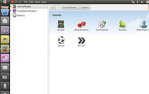 Screenshot of Ubuntu Software Center in Ubuntu...
