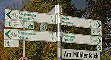 Beschilderung des Ochsenweges als Radfernweg in Uetersen