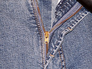 YKK Zipper on Jeans