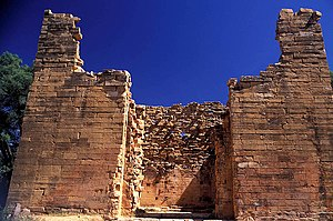 The ruin of the temple at Yeha, Tigray region, Ethiopia.