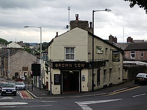 "English: ""Brown Cow"" Moor Lane Clitheroe"