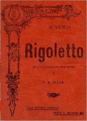 """Italiano: Copertina libretto """"Rigoletto&q..."""