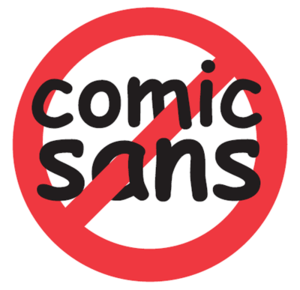 """Sticker from the website """"bancomicsans.co..."""