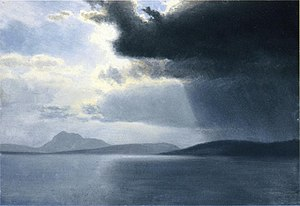Approaching Thunderstorm on the Hudson River, ...