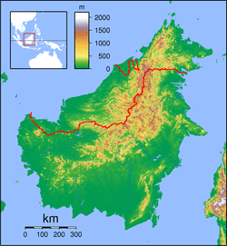 PKY is located in Borneo Topography