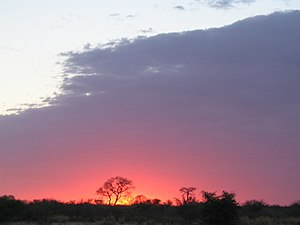 Sunrise in Botswana