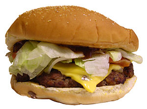 The Angus burger is a hamburger sold by the in...