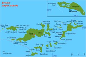 English: Map (rough) GB Virgin Islands, own wo...