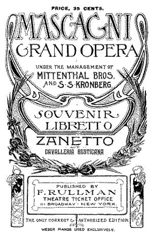 Cover of the souvenir libretto printed for the...