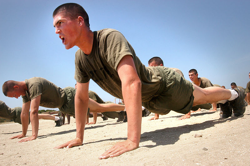File:Marines do pushups.jpg