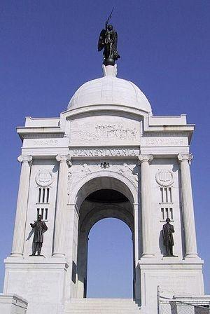 Pennsylvania Memorial at the Gettysburg Nation...