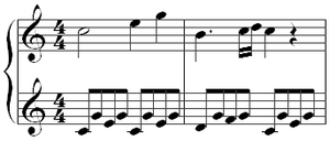The opening of the first movement.