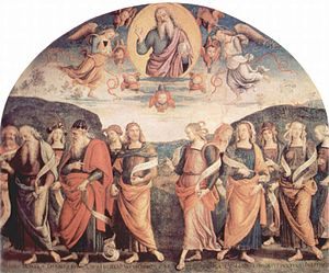 Pietro Perugino fresco at the Collegio del Cam...