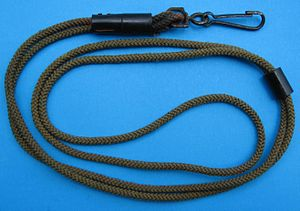 English: U.S. Military official issue lanyard ...