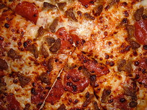Pizza Hut Meat Lover's pizz