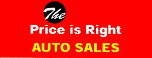 English: The Price Is Right Auto Sales Logo