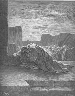 Ezra Kneels in Prayer (Ezr. 9:1-15)