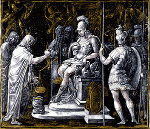 Alexander Giving Money to the Priests of Ammon