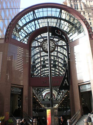 The entrance to the Crocker Galleria in San Fr...