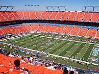 Inside of Dolphin Stadium taken before the Dol...