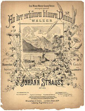 English: The Beautiful Blue Danube Waltz by Jo...