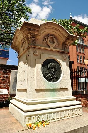 Photo of Edgar Allan Poe's Monument/Gravestone...