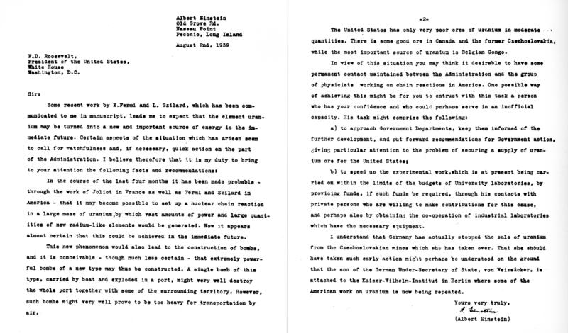 Az Einstein-Szilárd levél