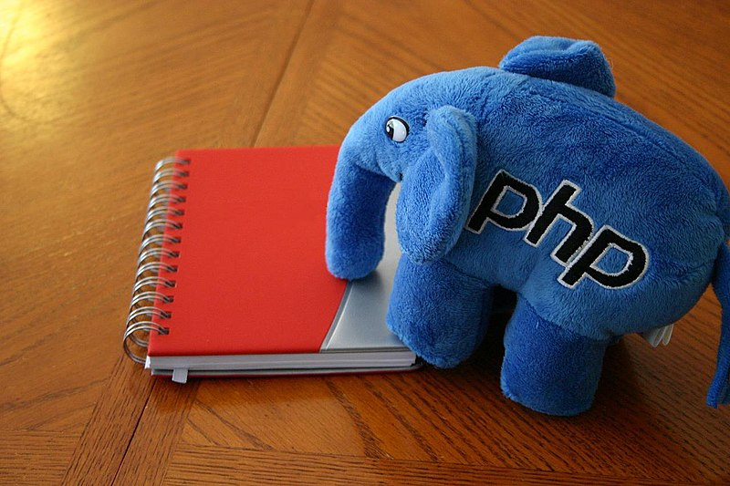 File:ElePHPant studying notes from SugarCon 2007.jpg