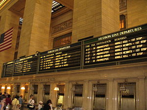 English: Train Board at Grand Central Terminal