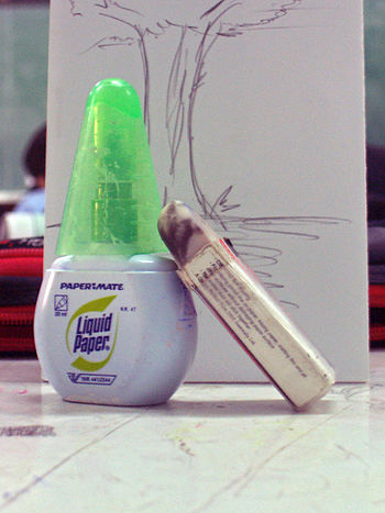 liquid paper (A bottle correction fluid), pict...