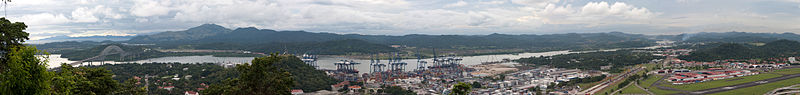 File:Panama canal panoramic view from the top of Ancon hill.jpg