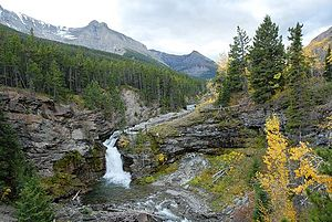 English: Blackiston Falls Upper, Waterton Nati...