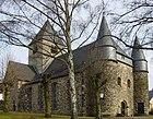 Nordwestseite der Evangelischen Kirche Großen-Linden