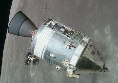 Apollo CSM lunar orbit