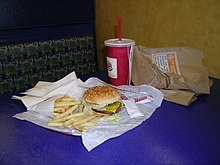 A Burger King value meal