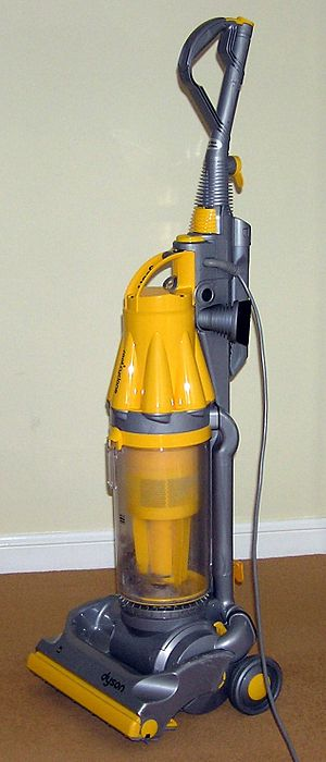 A Dyson DC07 upright cyclonic vacuum cleaner u...